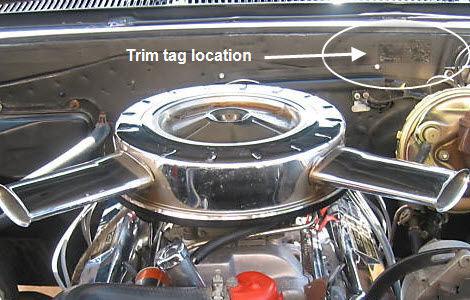 1965 Chevelle Trim Tag Breakdown