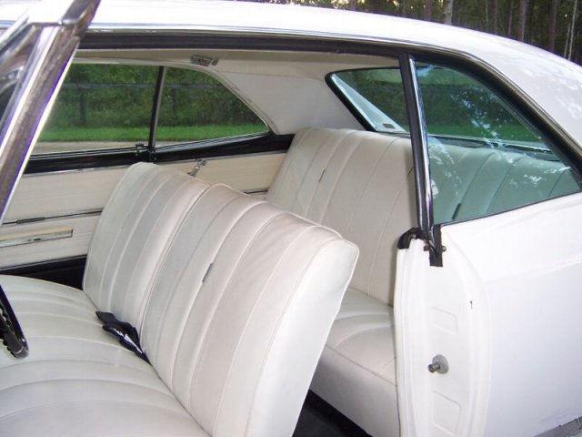 66 White Interior Black Headliner Chevelle Tech