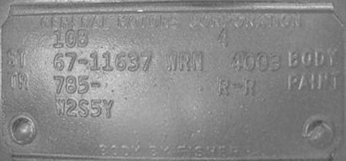 Chevy Rpo Codes Location