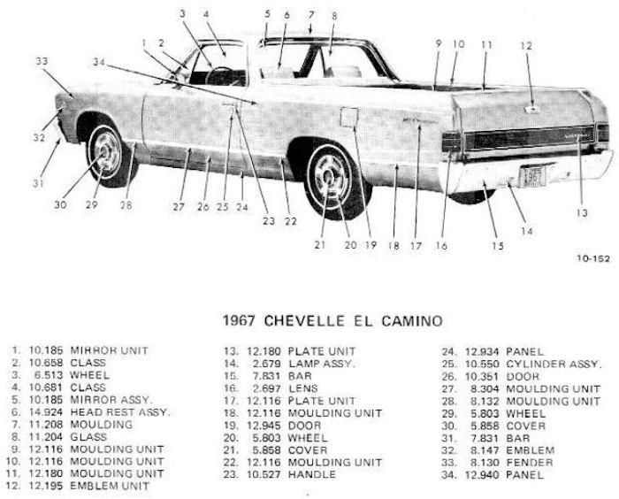 1967 chevelle body moldings