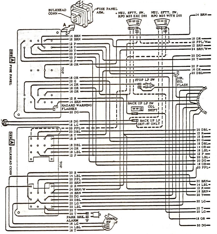 1968 chevelle wiring diagrams  chevelle stuff
