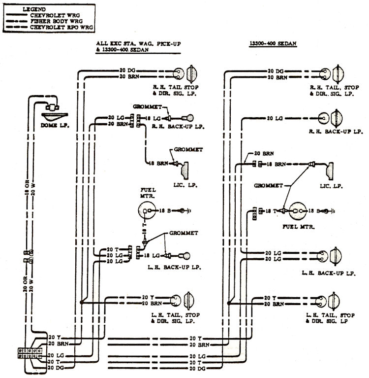 wiring_d4 1968 chevelle wiring diagrams El Camino Girls at bayanpartner.co