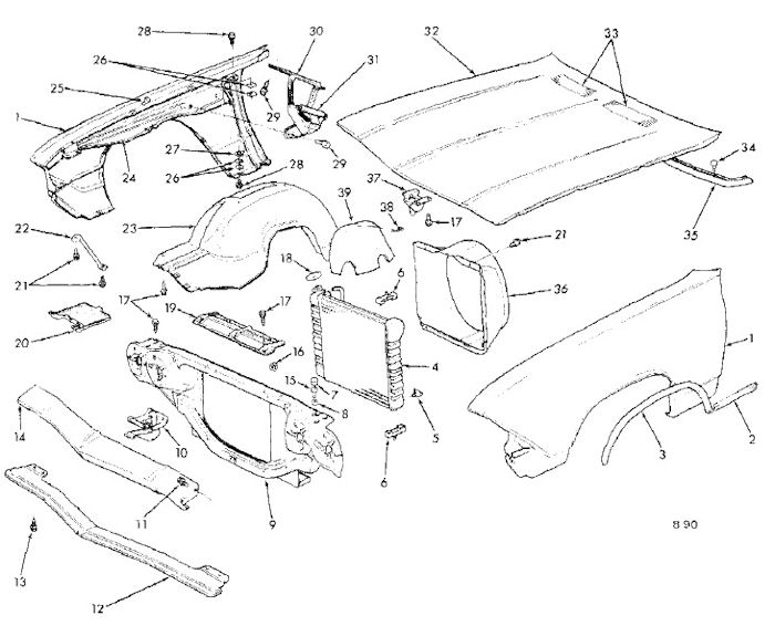 1968 chevelle front sheet metal 68 Camaro SS Interior 1968 chevelle front sheet metal exploded view