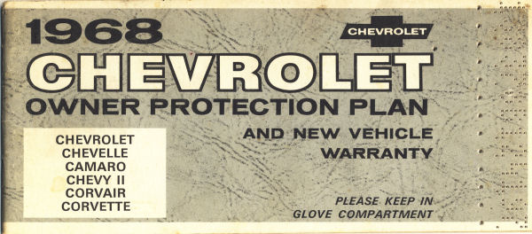 Gm Protection Plan >> 1968 Chevelle Protect-O-Plate Introduction