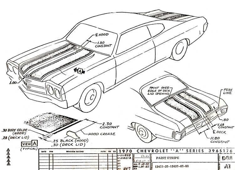 1970 Chevelle D88 Stripes