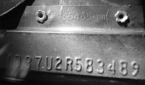 1972 Chevelle Vin Plate Samples