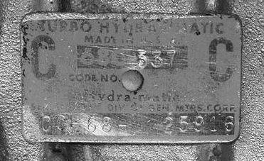 turbo 400 transmission identification numbers
