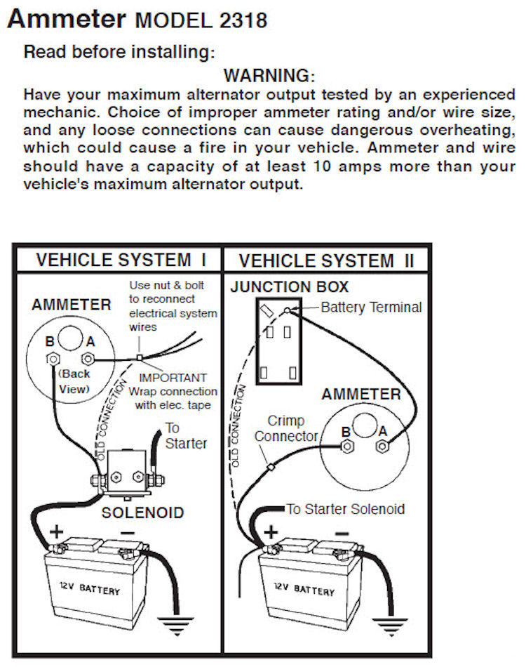 inst_amp1 gauges ammeter gauge wiring diagram at gsmportal.co