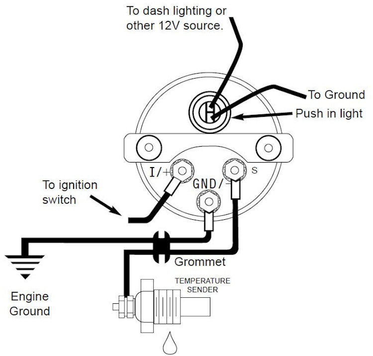 Autometer Volt Gauge Wiring Diagram