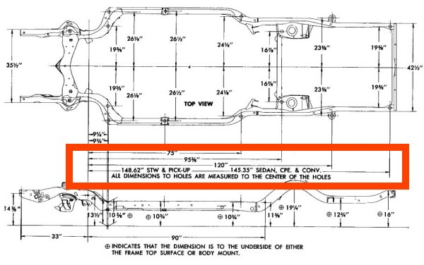 67 frame dimensions on frame alignment willys jeep parts