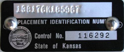 Kansas State VIN Information